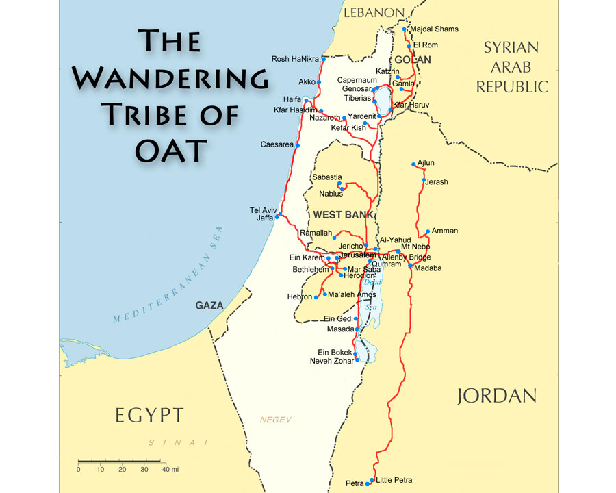 OAT Holy Land Tour Map
